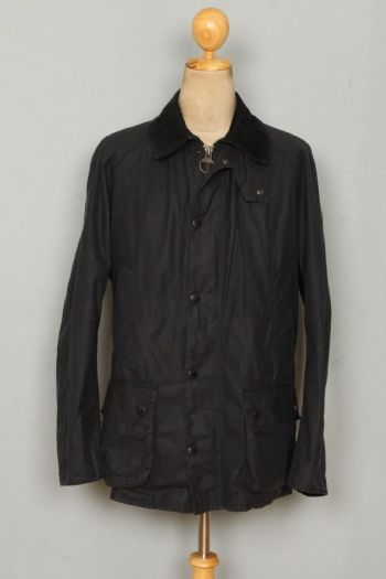 BARBOUR Ashby WAXED Jacket Navy Size Medium